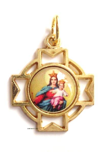 画像1: メダイ 十字型 扶助者聖母 1 (1)