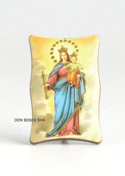 画像1: 卓上置物 ミニ板絵 扶助者聖マリア (1)