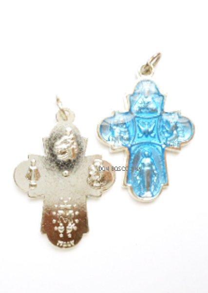 画像1: ミニ十字架 信徒の十字架 ブルー (1)