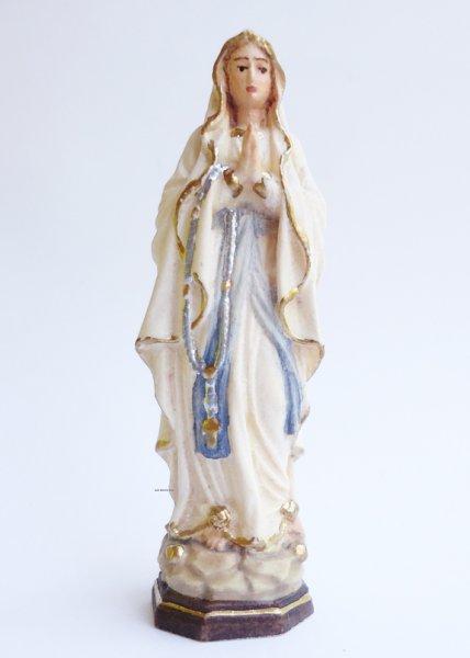画像1: 木彫り ルルドのマリア像 6.5cm 色付 (1)