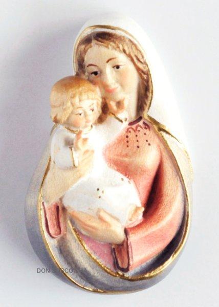 画像1: 木彫り 壁掛け 聖母子 (レリーフ) (1)