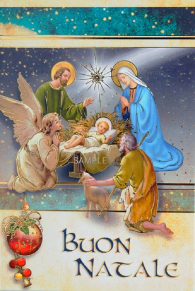 画像1: クリスマス二つ折りカード649-A.N.2 (1)