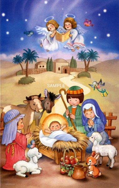 画像1: イタリア製二つ折りクリスマスカード06.0671-2 (1)