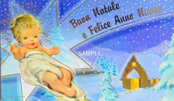 画像1: イタリア製クリスマスカード1枚タイプ封筒付423-V.N.3 (1)