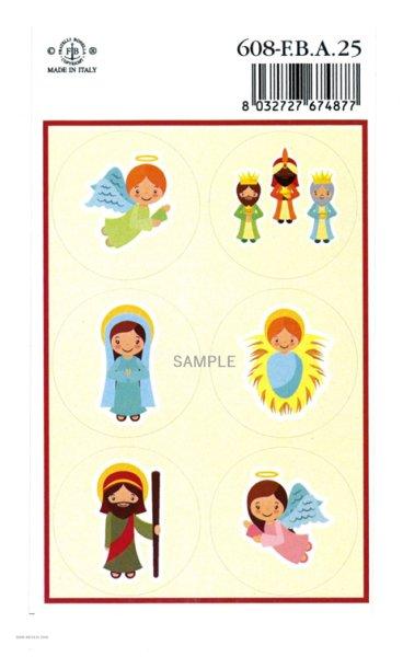 画像1: クリスマスシール 降誕セット 608-F.B.A25 (1)