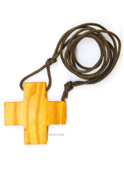 画像1: ペンダント オリーブ製 十字架 H35xW35mm (1)