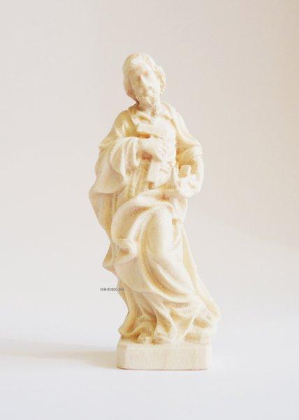画像1: 木彫り 聖ヨセフ 白木 6.7cm (1)