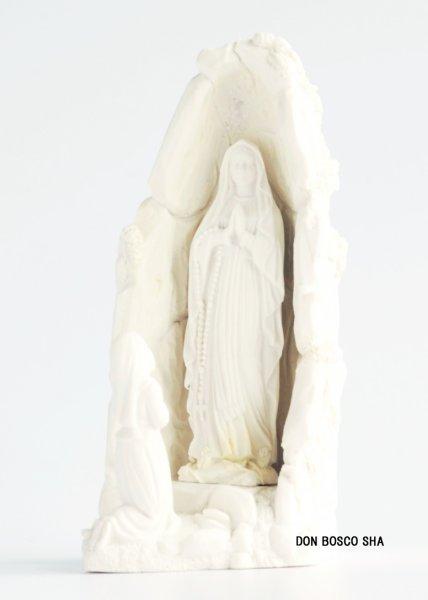 画像1: ご像 ベルナデッタとルルドのマリア (白)11.5cm (1)