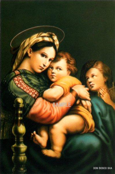 画像1: ポストカード 小椅子の聖母子(ラファエロ)FIDES136   (1)