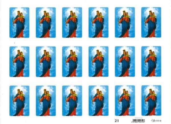 画像1: イタリア製シール 扶助者聖母 (1)