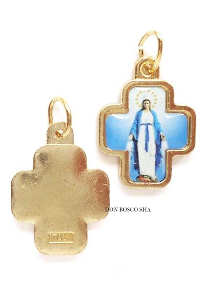 画像1: メダイ 十字型 無原罪の聖母 2 (1)