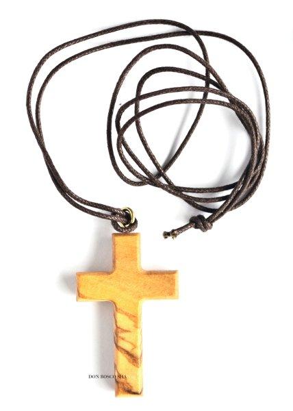 画像1: ペンダント オリーブ製十字架 CR242  (1)
