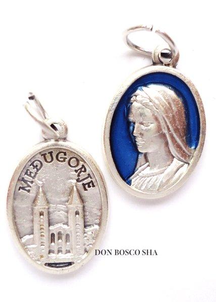 画像1: メダイ メジュゴリエの聖母 銀+青 (1)