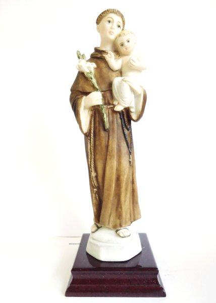 画像1: プラストマーブル製 パドアの聖アントニオ像 カラー 22cm  (1)