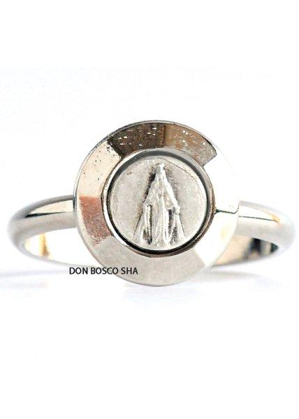 画像1: 指輪 無原罪の聖母  銀色A (大) (1)