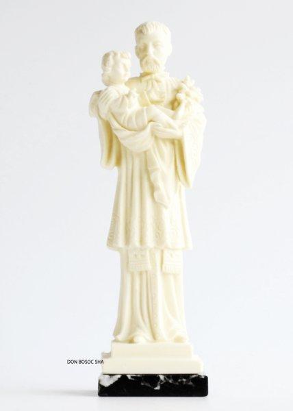 画像1: プラストマーブル製 聖ガエタノ像 白 (大理石台座)19.5cm (1)