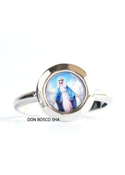画像1: 指輪 丸型 無原罪の聖母  カラー+銀A (大) (1)