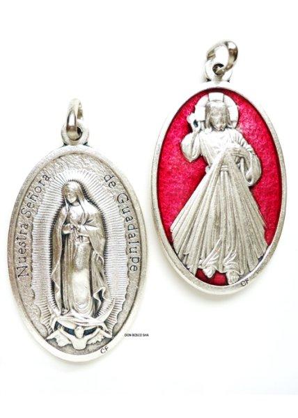 画像1: 両面メダイ 大 いつくしみのイエスとグアダルペの聖母 (1)