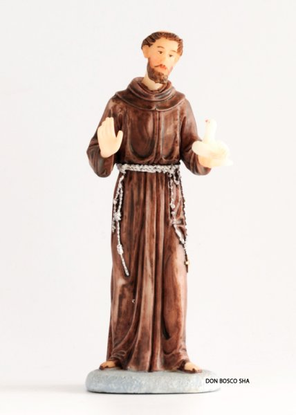 画像1: 樹脂製 聖フランシスコ像 15cm (1)
