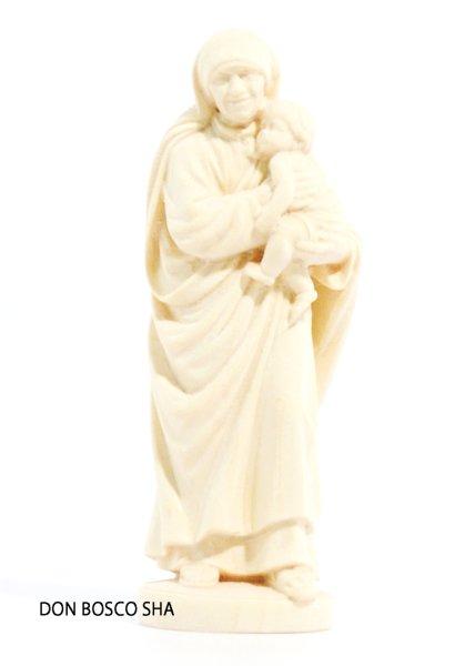 画像1: 木彫り マザー・テレサ像 10cm 白木 (1)