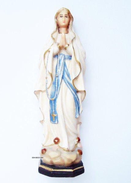 画像1: 木彫り ルルドのマリア像 約8cm カラー (1)