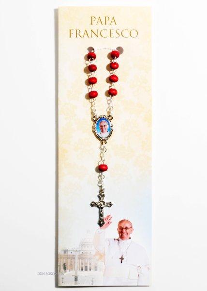 画像1: バラの香りのミニロザリオ 教皇フランシスコ (1)