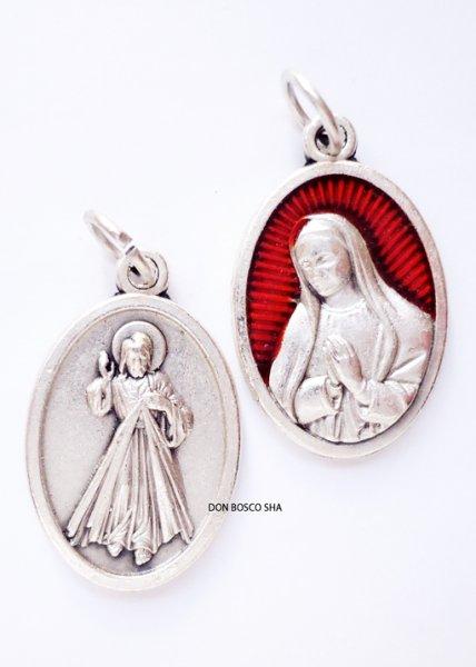 画像1: メダイ 両面 グアダルペの聖母&いつくしみのイエス (1)