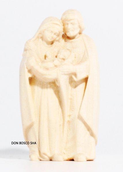 画像1: 木彫り 聖家族像 5cm 白木 (1)