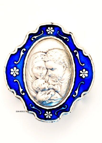 画像1: 小物入れ 聖家族 ブルー (1)