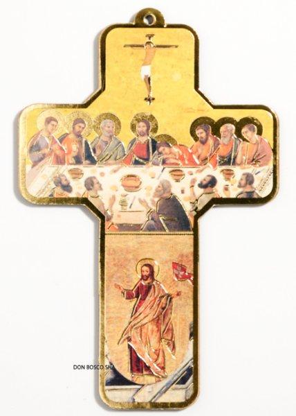 画像1: 板絵十字架 最後の晩餐 (1)