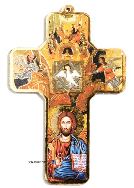 画像1: 板絵十字架 聖霊 (1)
