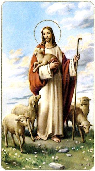 画像1: イタリア製 ご絵 善き牧者キリスト (101-09) (1)