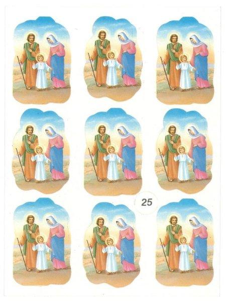 画像1: イタリア製 クリスマスシール 聖家族 (1)