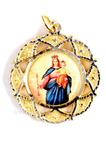 画像1: メダイ 扶助者聖母 金色 (1)