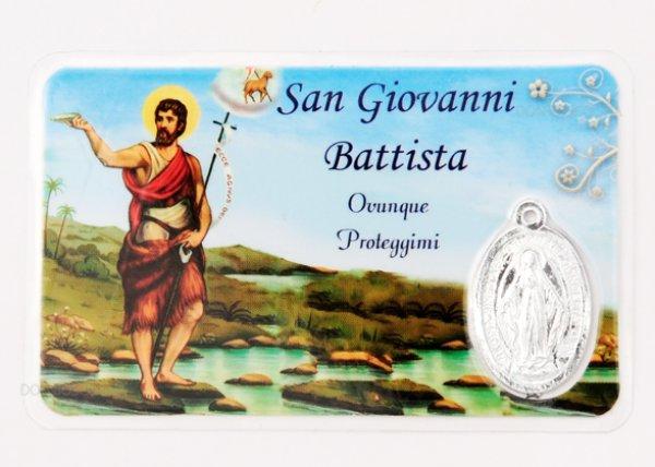 画像1: メダイ付パウチカード 洗礼者聖ヨハネ (1)