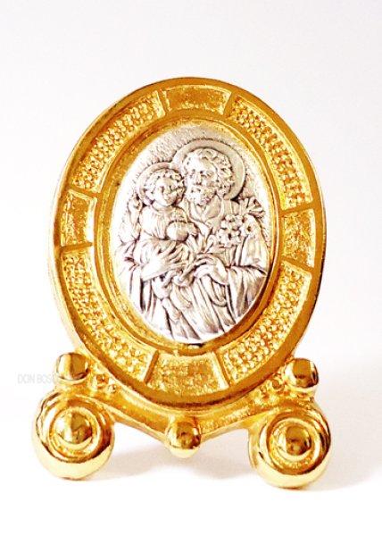 画像1: 卓上置物 聖ヨセフ 金縁 (1)