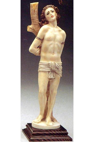 画像1: プラストマーブル製 聖セバスチャン像 カラー  (1)