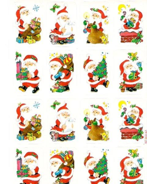 画像1: イタリア製クリスマスシール サンタクロース EG801 (1)