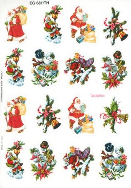 画像1: イタリア製 クリスマスシール サンタ 681/TH (1)