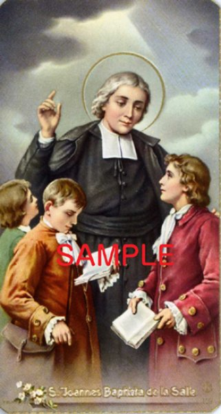 画像1: イタリア製 ご絵 聖ヨハネ・バプチスタ(ラ・サール)司祭 4月7日 (159) (1)