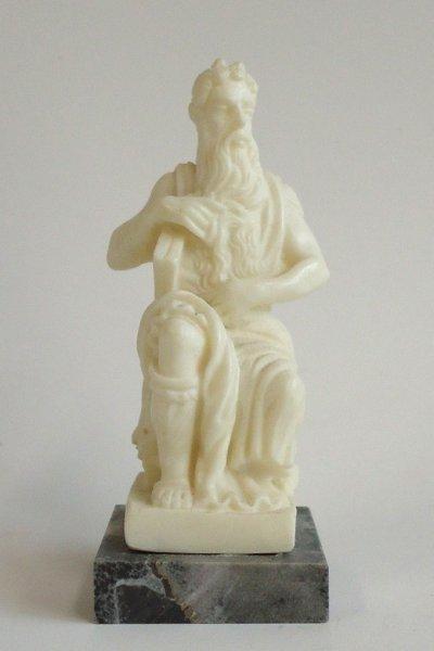 画像1: プラストマーブル製 聖モーセ像 白 8.5cm (1)