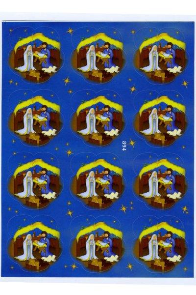画像1: イタリア製クリスマスシール 六角形 EG894 (1)