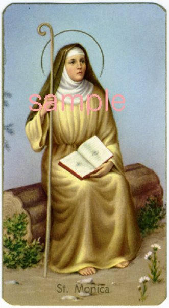 画像1: イタリア製 ご絵 聖モニカ (400-174) (1)