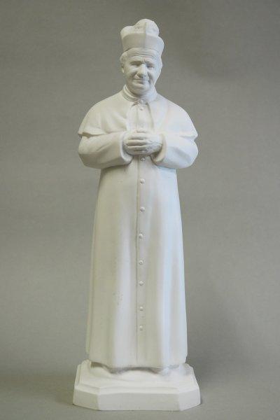 画像1: プラストマーブル製 ドン・ボスコ像 白 34cm (1)