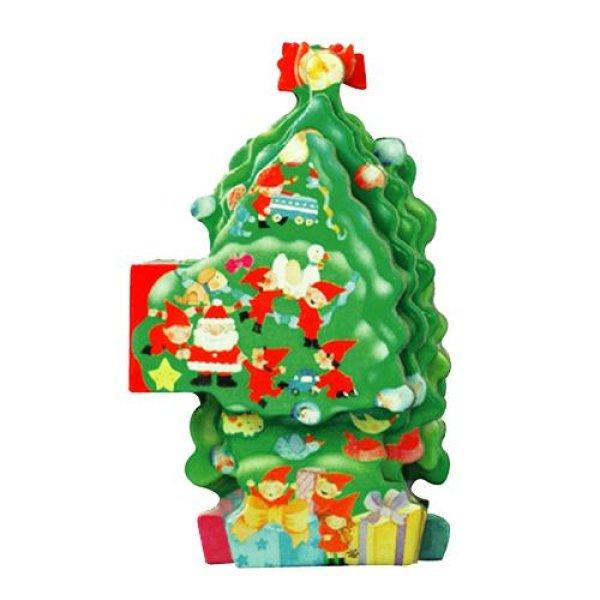 画像1: MINI04☆卓上型ミニ絵本 クリスマスツリー (1)