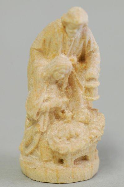 画像1: 木彫り 小さな聖家族像 4cm 白木 (CR7940W) (1)
