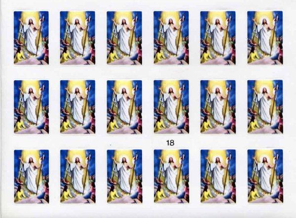 画像1: イタリア製 シール イースター 復活のキリスト (18) (1)