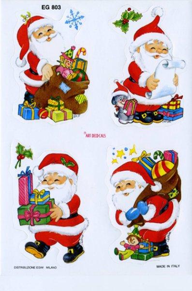 画像1: イタリア製 クリスマスシール サンタ  (1)