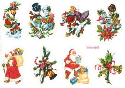 画像1: イタリア製 クリスマスシール サンタ 681/TH