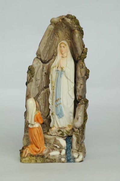 画像1: ご像 ベルナデッタとルルドのマリア 11.5cm (カラー) (1)